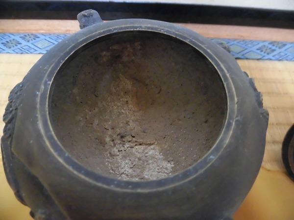 ★アンティーク 茶道具 香炉 金属製 三足香炉 共箱有★_画像7