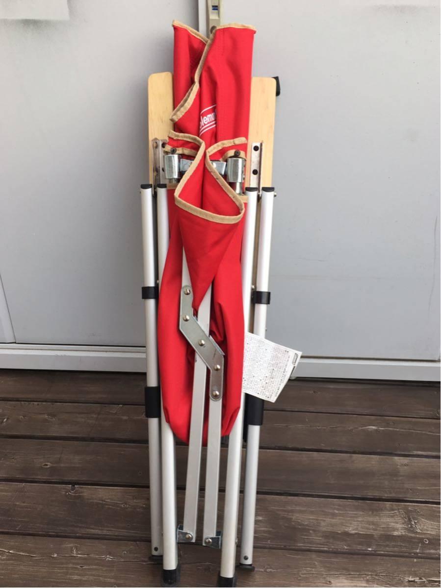 コールマン リクライニング チェア レイチェア 赤 レッド 売り切り 最低落札価格無し_画像4