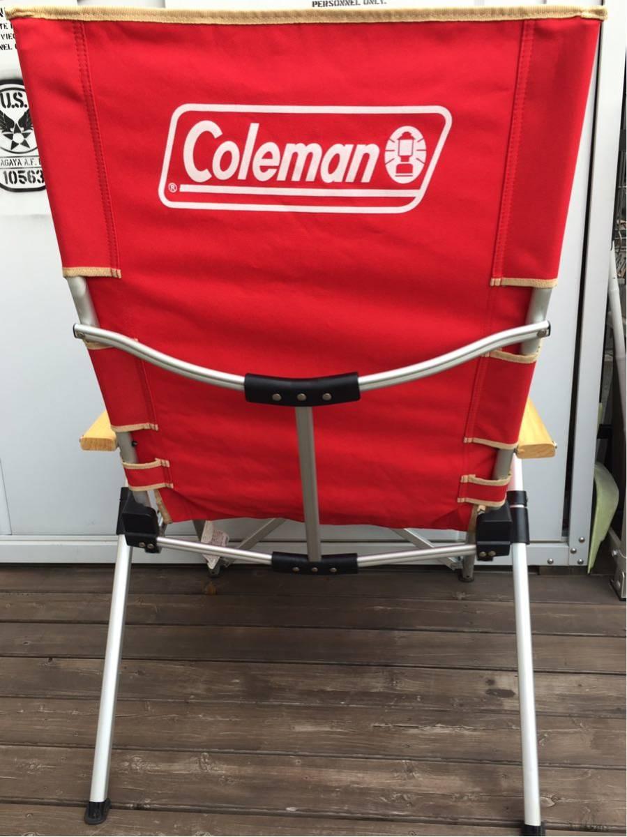コールマン リクライニング チェア レイチェア 赤 レッド 売り切り 最低落札価格無し_画像3