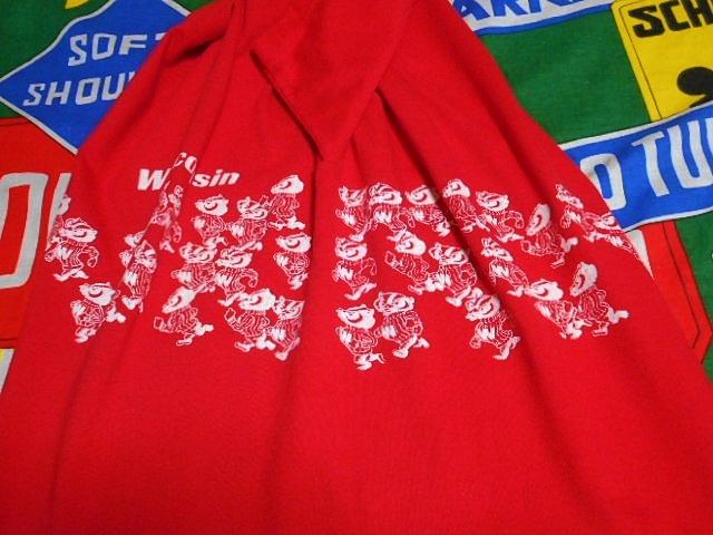 ★可愛い胴巻きプリント★Made in USA製アメリカ製ChampionチャンピオンビンテージカレッジTシャツ80s80年代トリコタグウィスコンシン大学_画像5