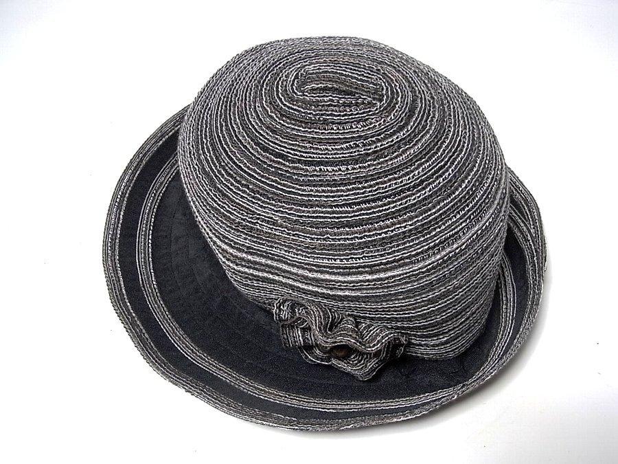 ★ボーラーハット 帽子 ブラック&ダークブラウン系 約57.5㎝ _画像2