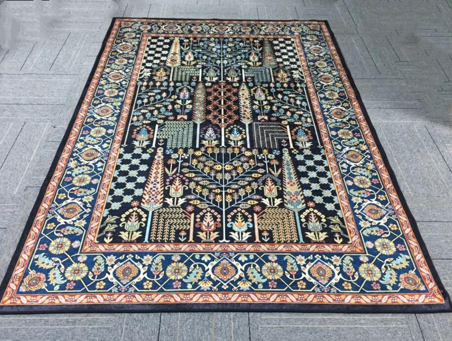 ペルシャ絨毯 高級ウィルトン織り アンティーク家具 滑り止め付リビング ダイニング ラグマット カーペット160cm×230cm