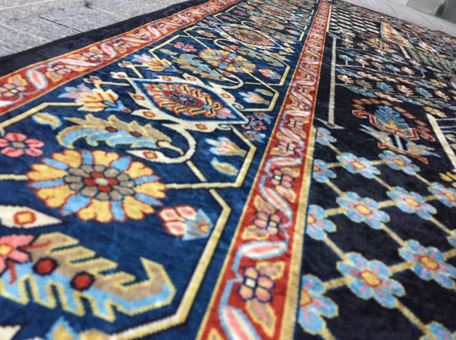 ペルシャ絨毯 高級ウィルトン織り アンティーク家具 滑り止め付リビング ダイニング ラグマット カーペット160cm×230cm_画像6