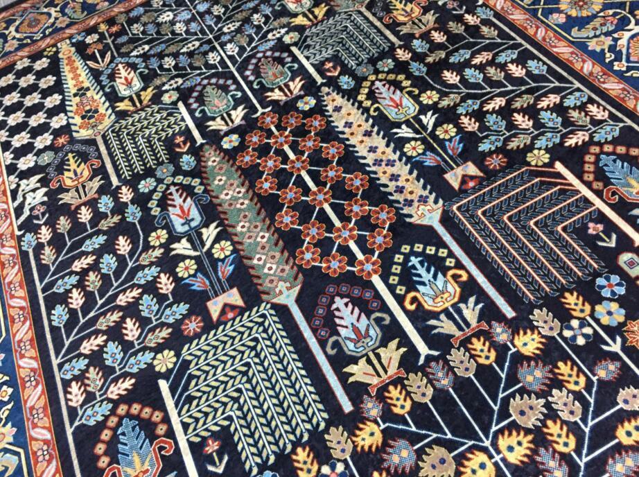 ペルシャ絨毯 高級ウィルトン織り アンティーク家具 滑り止め付リビング ダイニング ラグマット カーペット160cm×230cm_画像4
