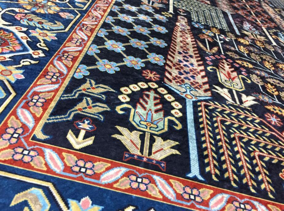 ペルシャ絨毯 高級ウィルトン織り アンティーク家具 滑り止め付リビング ダイニング ラグマット カーペット160cm×230cm_画像5