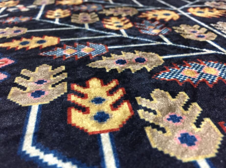 ペルシャ絨毯 高級ウィルトン織り アンティーク家具 滑り止め付リビング ダイニング ラグマット カーペット160cm×230cm_画像7