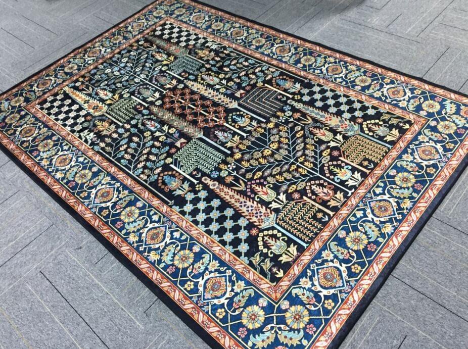 ペルシャ絨毯 高級ウィルトン織り アンティーク家具 滑り止め付リビング ダイニング ラグマット カーペット160cm×230cm_画像3