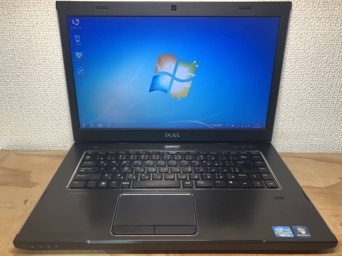 極速SSD搭載 WIN7 DELL VOSTRO 15 3550 Core I5-2450 2.50GHz 4G 128G HDD HD3000 OFFICE 2013搭載 東京即日発送