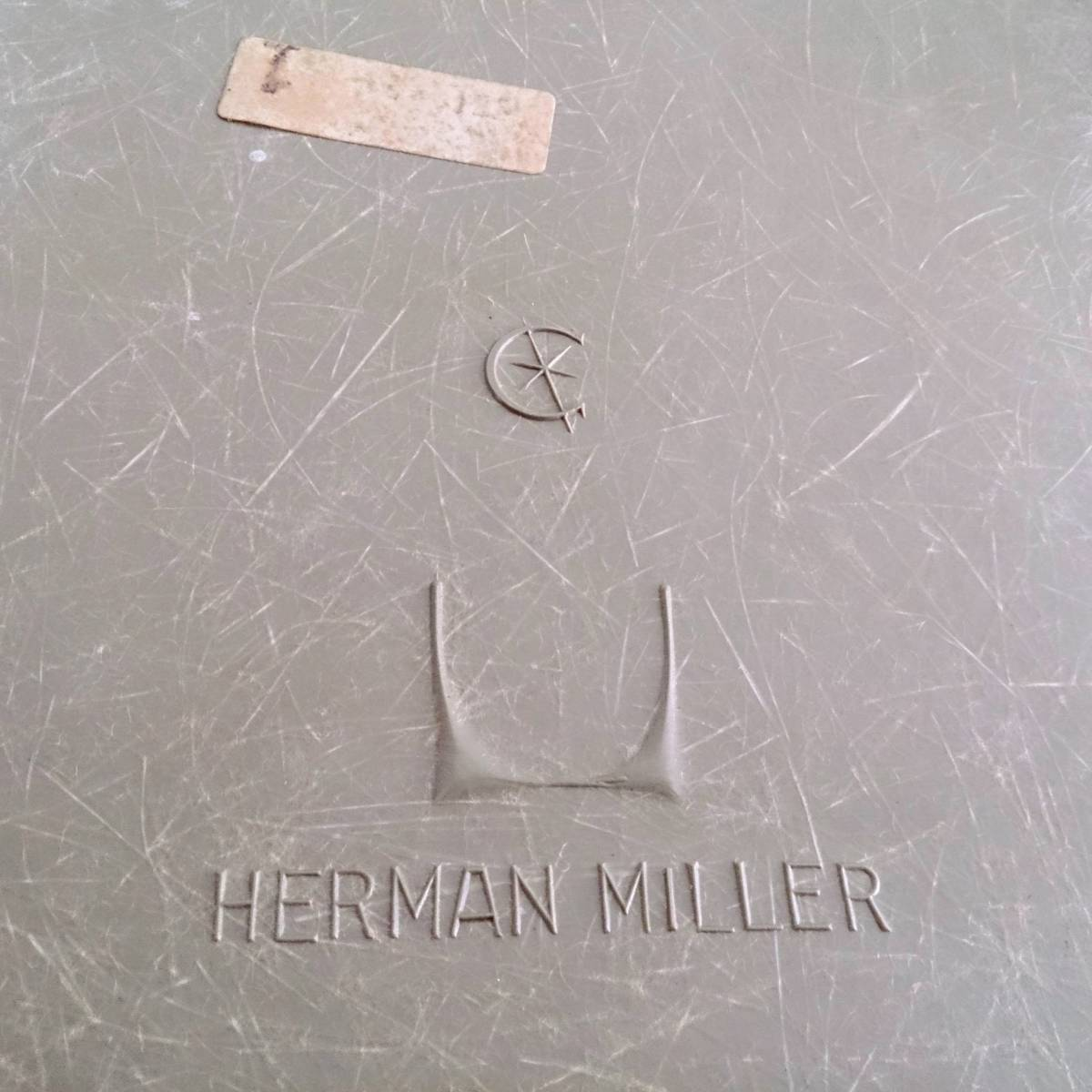 《'50s Vintage》HERMAN MILLER/ハーマンミラー■アームシェルチェア グラスファバー 2nd Hベース ローアンバー グレージュ 希少_画像6