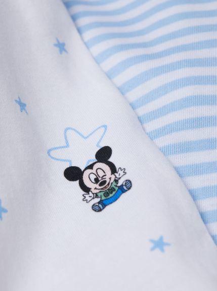 新品【H&M】7580♪ミッキー/長袖ロンパース・カバーオール★パジャマ★男の子・ベビー_画像2