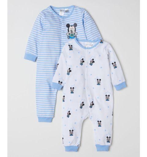 新品【H&M】7580♪ミッキー/長袖ロンパース・カバーオール★パジャマ★男の子・ベビー
