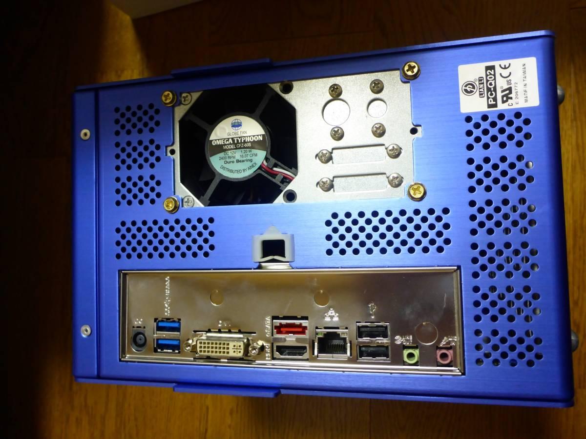 中古PC M/B ASUS H81T CPU Pentium G3258 LIAN LI アルミケース付 ACアダプター 130W 動作確認 Thin mini ITX Antec Spot Cool_画像7