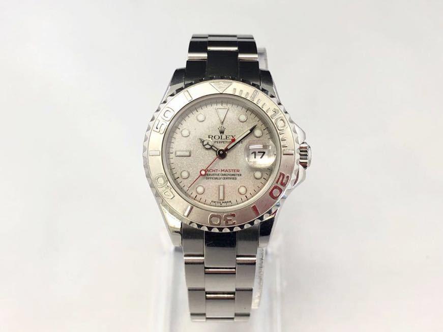【 1円 】★ 美品 ★ ROLEX ヨットマスター 腕時計 自動巻 稼働品 169622 ロレジウム ロレックス 中古