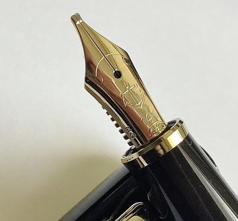 1円~ 美品 セーラー 万年筆 旧プロフィット 14k MS(ミュージック)ニブ ブラック sailor fountain pen