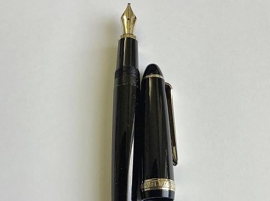 1円~ 美品 セーラー 万年筆 旧プロフィット 14k MS(ミュージック)ニブ ブラック sailor fountain pen_画像5
