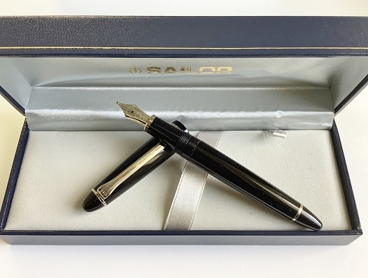 1円~ 美品 セーラー 万年筆 旧プロフィット 14k MS(ミュージック)ニブ ブラック sailor fountain pen_画像2