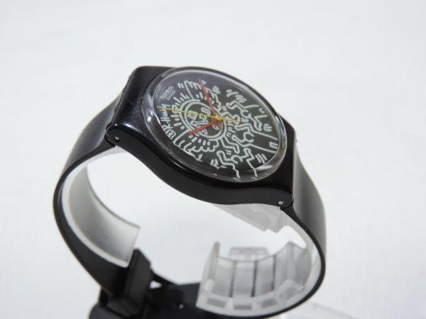 SWATCH/スウォッチ Keith Haring/キースへリング 3針 クォーツ ベルト純正新品交換済 295G_画像5