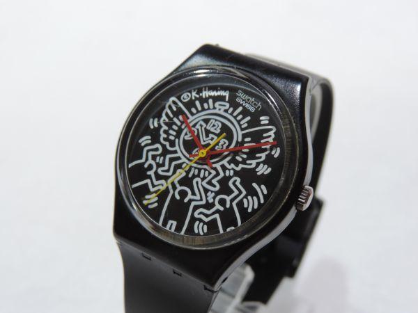 SWATCH/スウォッチ Keith Haring/キースへリング 3針 クォーツ ベルト純正新品交換済 295G_画像2