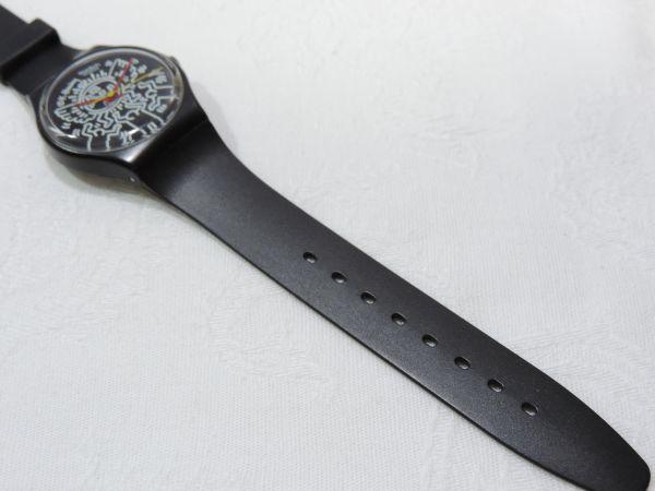 SWATCH/スウォッチ Keith Haring/キースへリング 3針 クォーツ ベルト純正新品交換済 295G_画像6