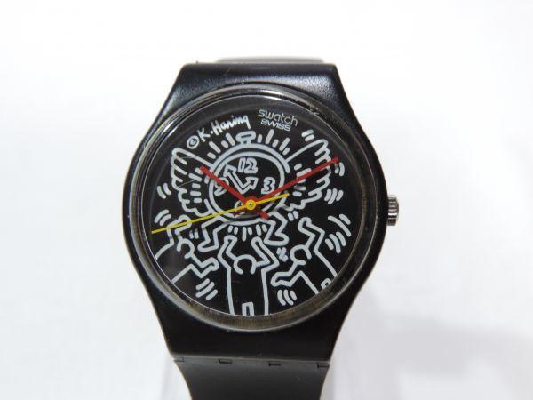 SWATCH/スウォッチ Keith Haring/キースへリング 3針 クォーツ ベルト純正新品交換済 295G_画像3