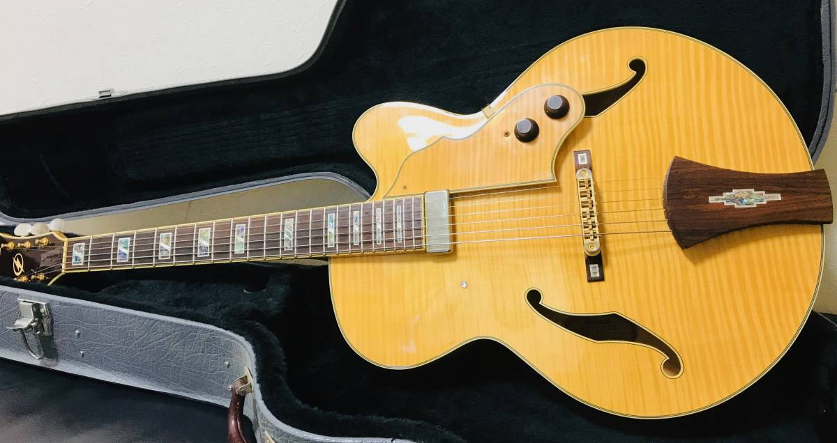 【sk063p54】■Ibanez アイバニーズ フルアコ AF105F-NT-12-01・美品 ギター