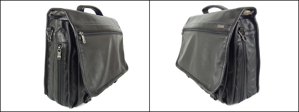 1円 トゥミ メンズ オール レザー PC A4収納可能 多収納 96071D4 2層式 2WAY ブリーフケース 書類鞄 ショルダー ビジネス ハンドバッグ_画像3