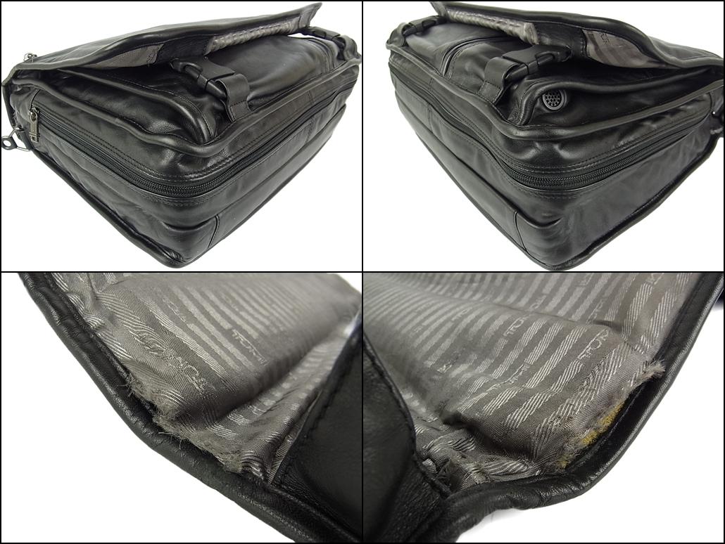 1円 トゥミ メンズ オール レザー PC A4収納可能 多収納 96071D4 2層式 2WAY ブリーフケース 書類鞄 ショルダー ビジネス ハンドバッグ_画像6