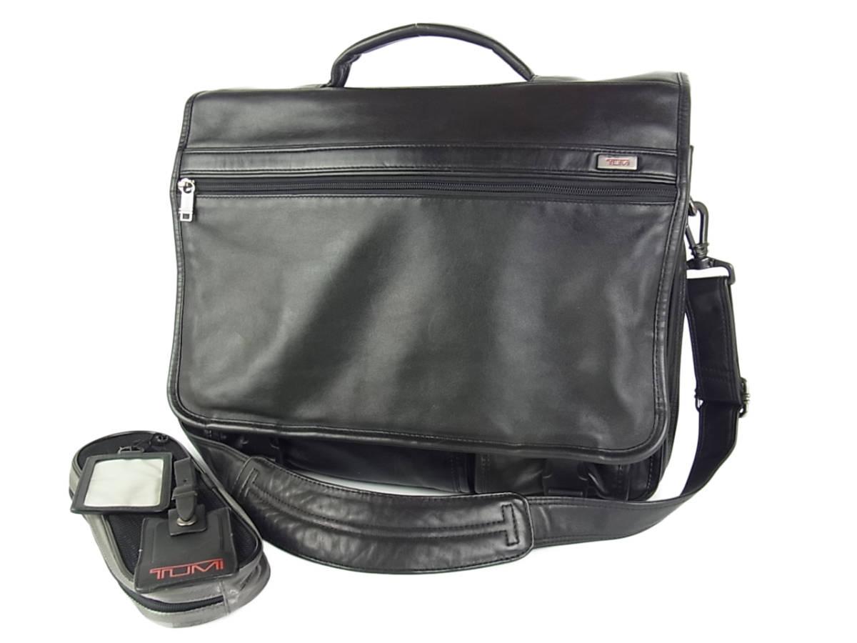 1円 トゥミ メンズ オール レザー PC A4収納可能 多収納 96071D4 2層式 2WAY ブリーフケース 書類鞄 ショルダー ビジネス ハンドバッグ