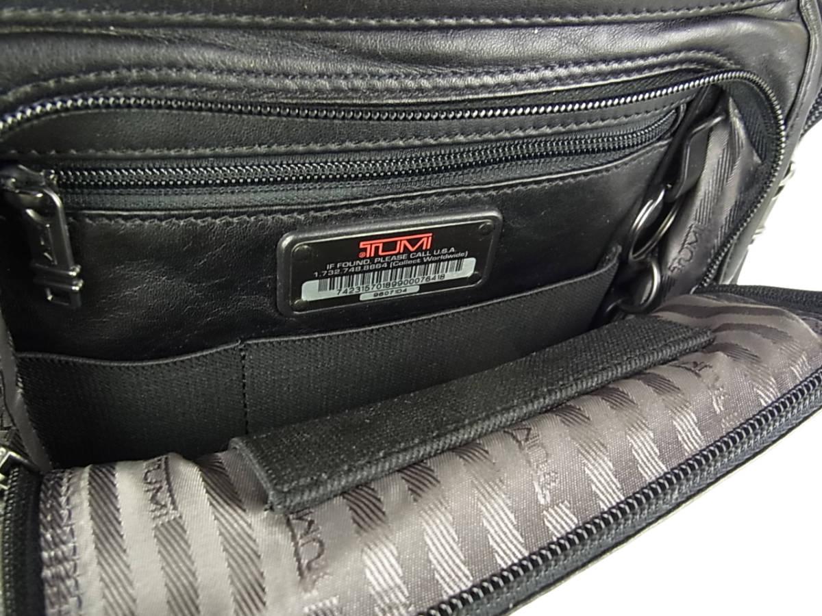 1円 トゥミ メンズ オール レザー PC A4収納可能 多収納 96071D4 2層式 2WAY ブリーフケース 書類鞄 ショルダー ビジネス ハンドバッグ_画像8