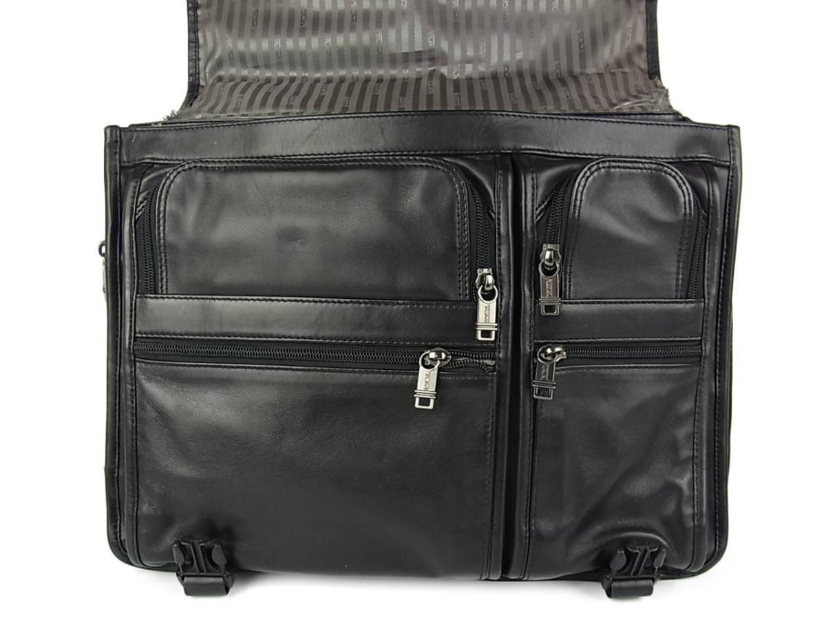 1円 トゥミ メンズ オール レザー PC A4収納可能 多収納 96071D4 2層式 2WAY ブリーフケース 書類鞄 ショルダー ビジネス ハンドバッグ_画像7