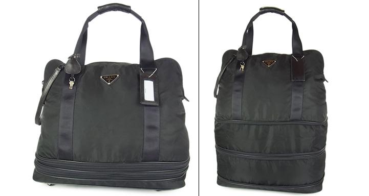 774064acdc6c 代購代標第一品牌- 樂淘letao - 1円プラダ美品大容量最大W47×H63cm 2段階拡張機能イタリア製テスートナイロン×レザーボストン キャリーバッグ旅行鞄付属品多数