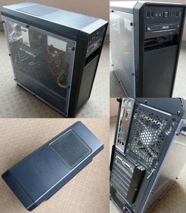 自作ゲーミングPC i5-4460 GTX750Ti SSD250GB メモリ8GB HDD1TB 500w win10 Pro 64bit ASUS H97-PLUS DVD