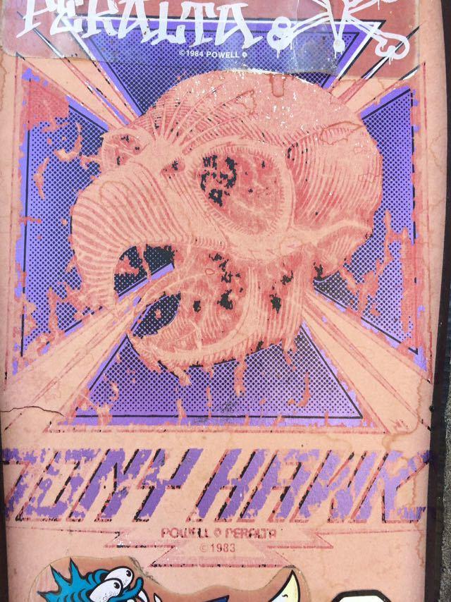1983's POWELL PERALTA TONY HAWK VINTAGE SKATEBOARD トニーホーク ビンテージ スケートボード パウエル ペラルタ スケボー ロングボード_画像4