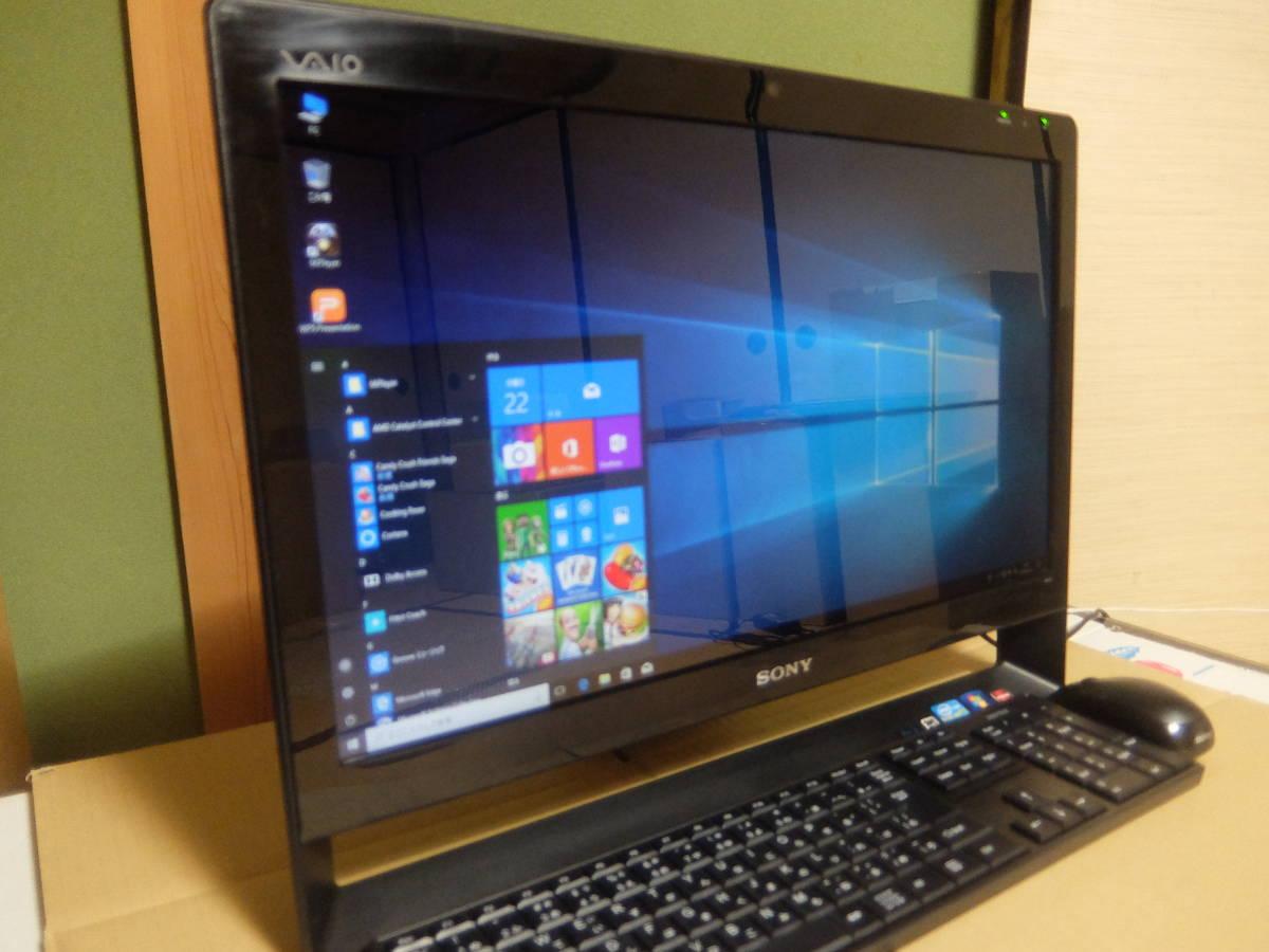 Core i7高性能 SSD静音快適動作★最新Windows10搭載★美品ハイスペックパソコン21.5型ソニー★ブルーレイ搭載SONYバイオ