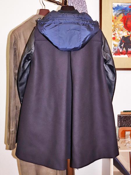国内正規品 モンクレール 超レアモデル 三種素材ラムレザーアームダウンコート サイズ1 ダウンジャケット ハンガリー製 MONCLER 本物_画像4