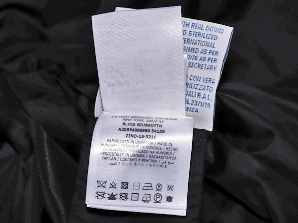 国内正規品 モンクレール 超レアモデル 三種素材ラムレザーアームダウンコート サイズ1 ダウンジャケット ハンガリー製 MONCLER 本物_画像8