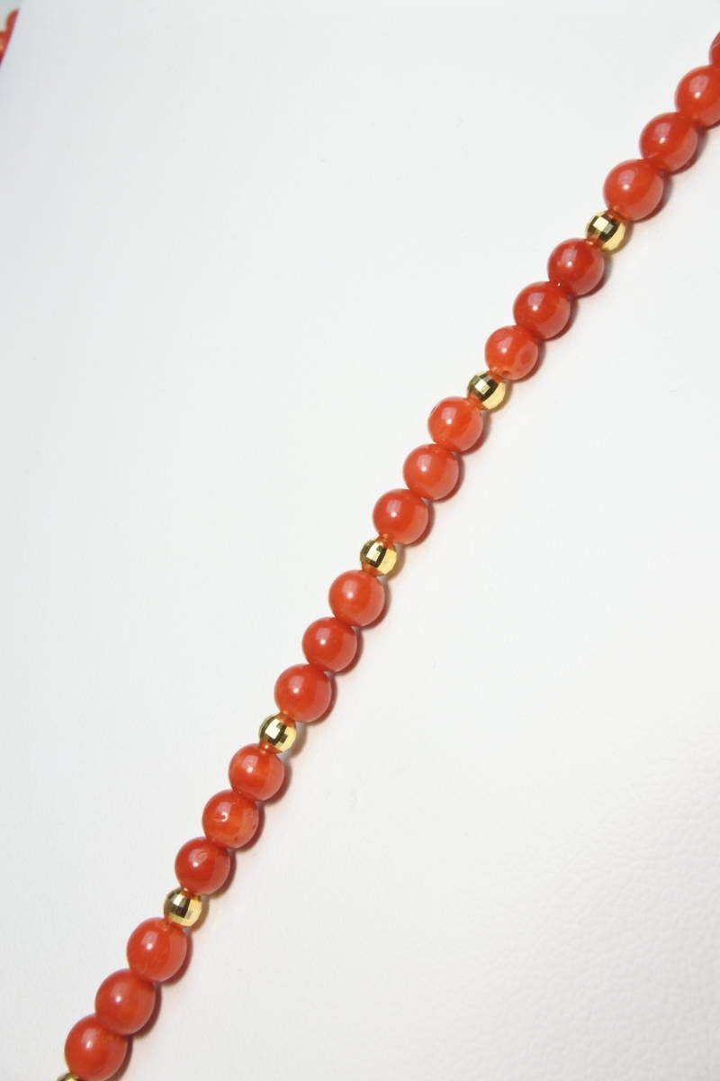 ★ 新春特別値下げ!未使用品 18サンゴ ダイヤ0.33 高級ネックレス 日本製 _画像5