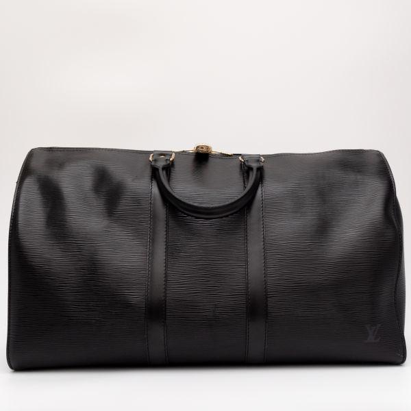 【極美品】ルイヴィトン Louis Vuitton エピ キーポル45 ボストンバッグ ノワール 旅行バッグ かばん 鞄 レザー 定価約24万_画像4