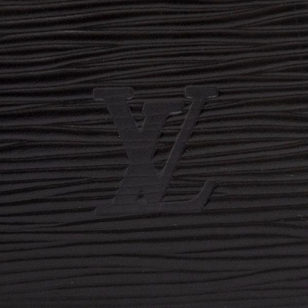 【極美品】ルイヴィトン Louis Vuitton エピ キーポル45 ボストンバッグ ノワール 旅行バッグ かばん 鞄 レザー 定価約24万_画像9