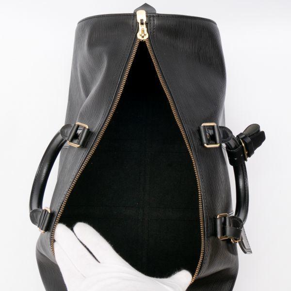 【極美品】ルイヴィトン Louis Vuitton エピ キーポル45 ボストンバッグ ノワール 旅行バッグ かばん 鞄 レザー 定価約24万_画像10