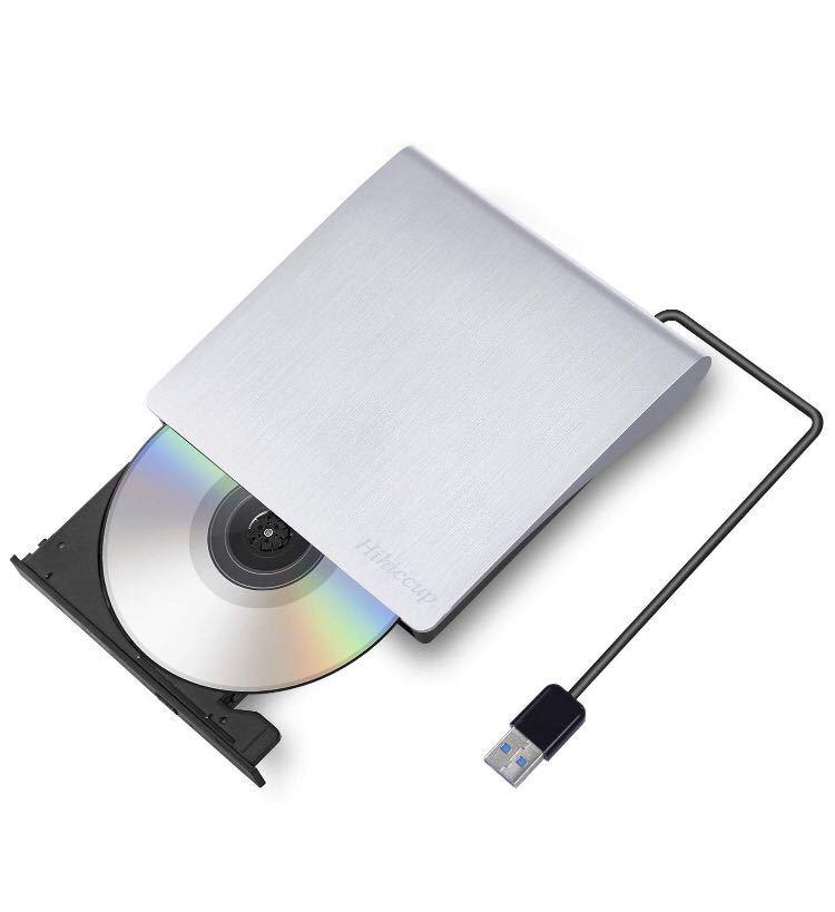 外付け DVDドライブ DVDプレイヤー ポータブルドライブ CD/DVD読取・書込 DVD±RW CD-RW USB3.0/2.0 Window/Mac OS両対応