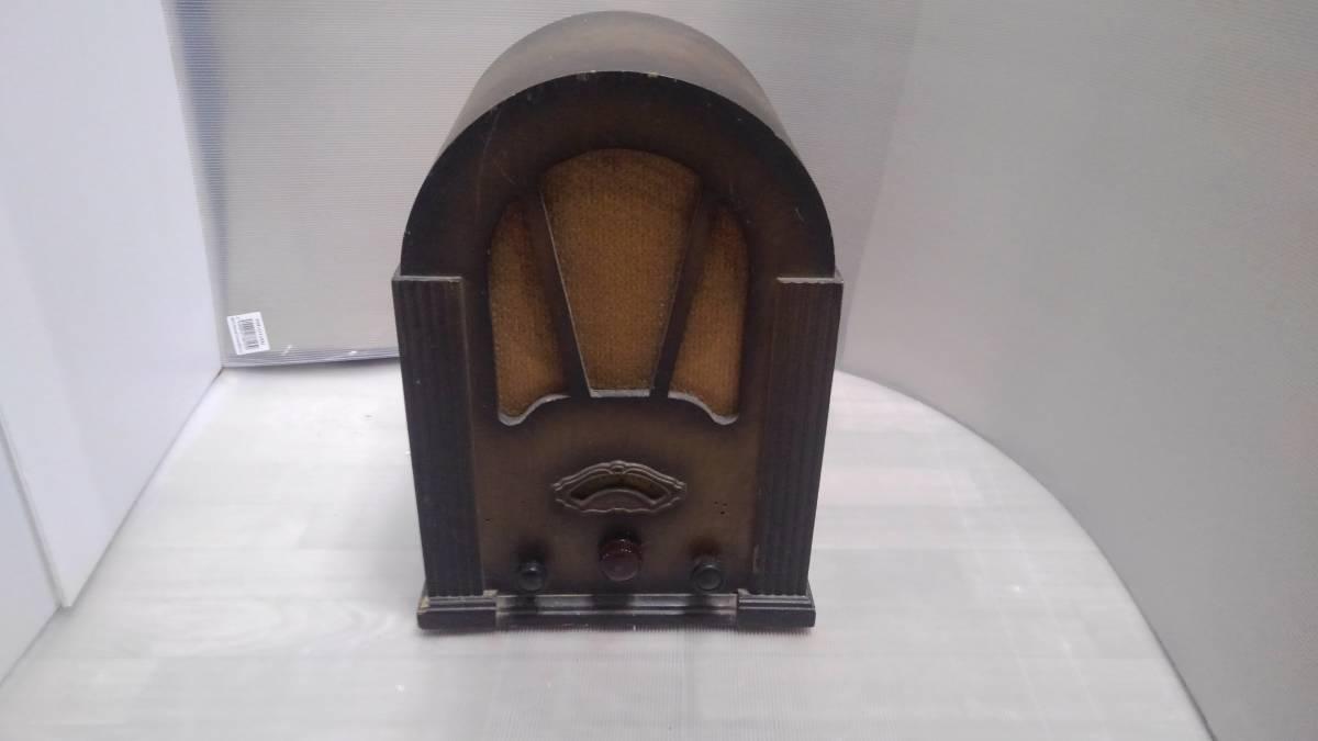 ジャンク 詳細不明 古い真空管式ラジオ ミゼット型受信機 昭和ラジオ ナショナル 227 宮型ラジオ 戦後 大恐慌 真空管