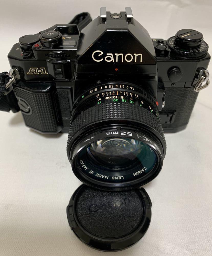 Canon A-1 1眼レフカメラ ブラック ボディ FD 50㎜ 1:1.4 レンズ キャノン セット_画像2