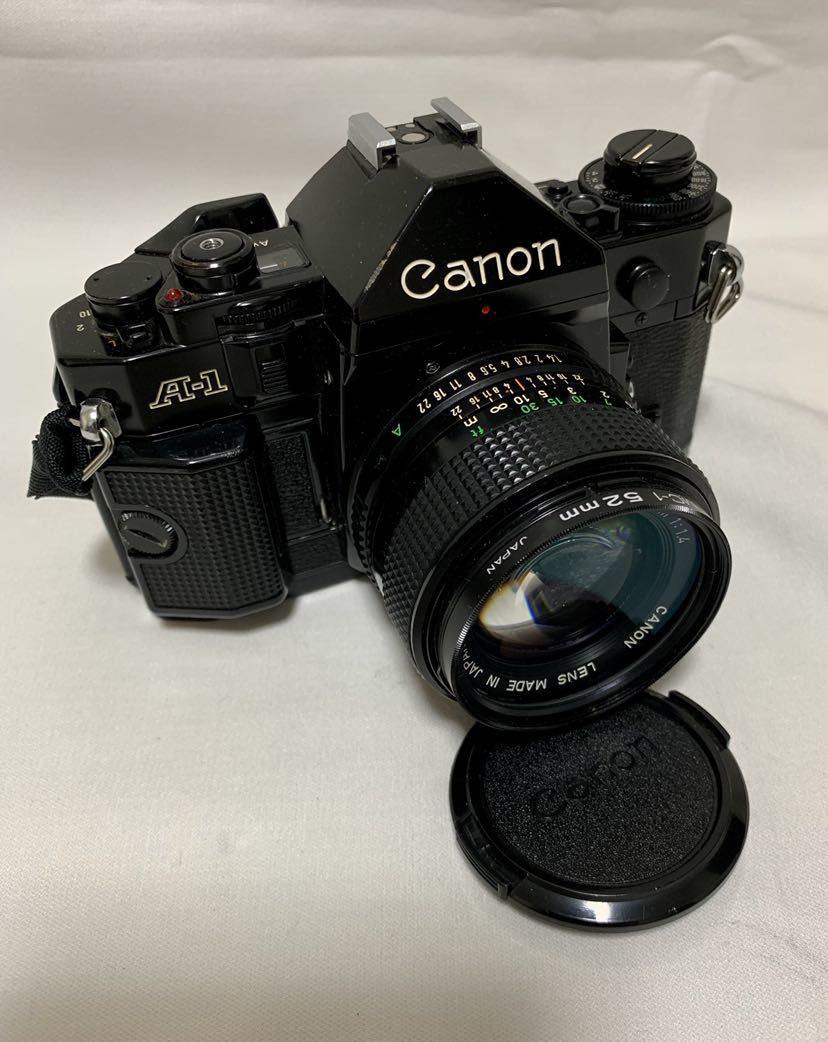 Canon A-1 1眼レフカメラ ブラック ボディ FD 50㎜ 1:1.4 レンズ キャノン セット