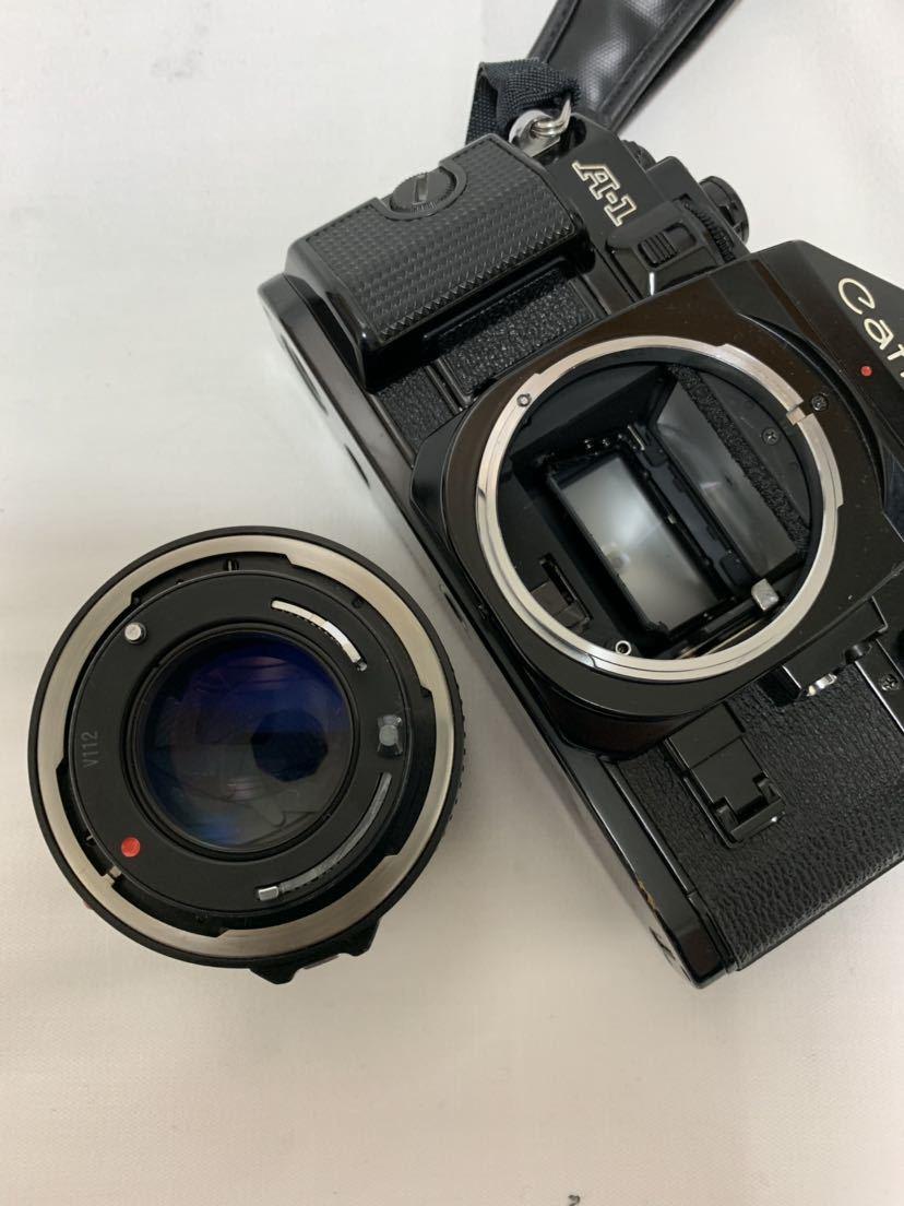 Canon A-1 1眼レフカメラ ブラック ボディ FD 50㎜ 1:1.4 レンズ キャノン セット_画像9