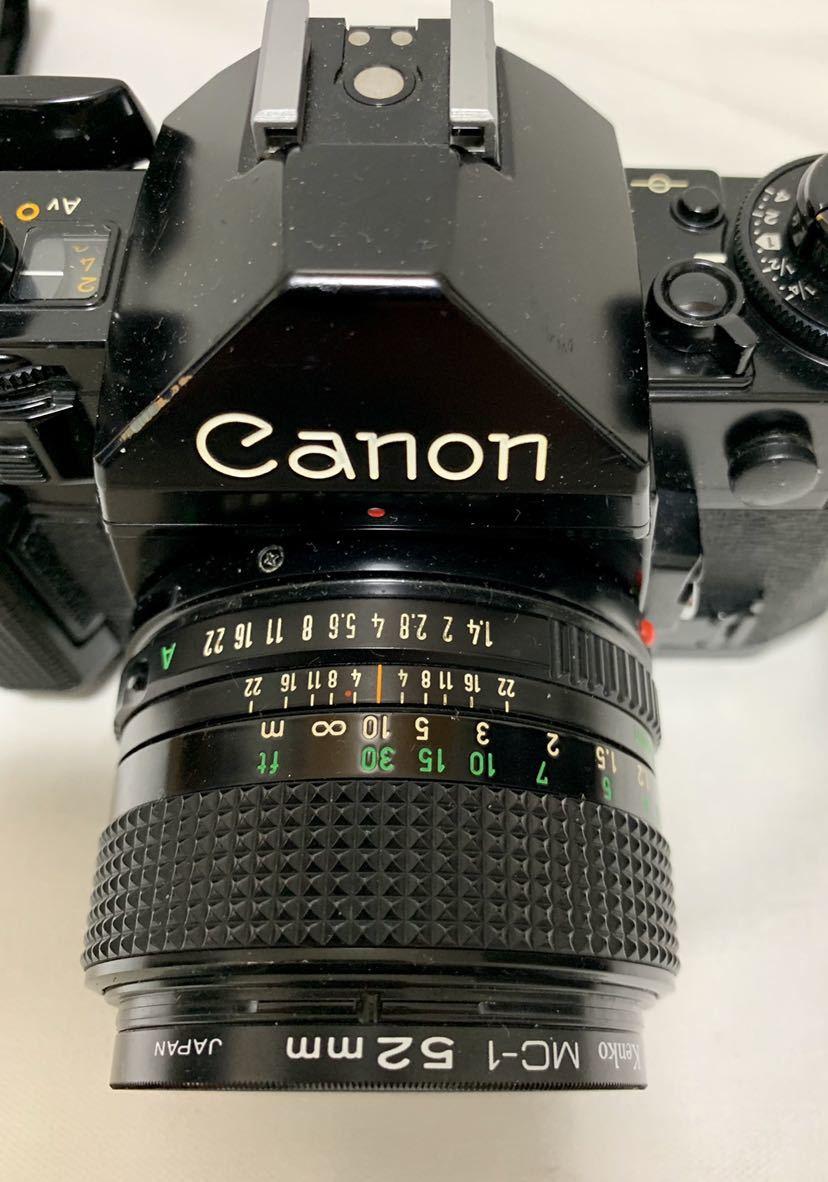 Canon A-1 1眼レフカメラ ブラック ボディ FD 50㎜ 1:1.4 レンズ キャノン セット_画像8