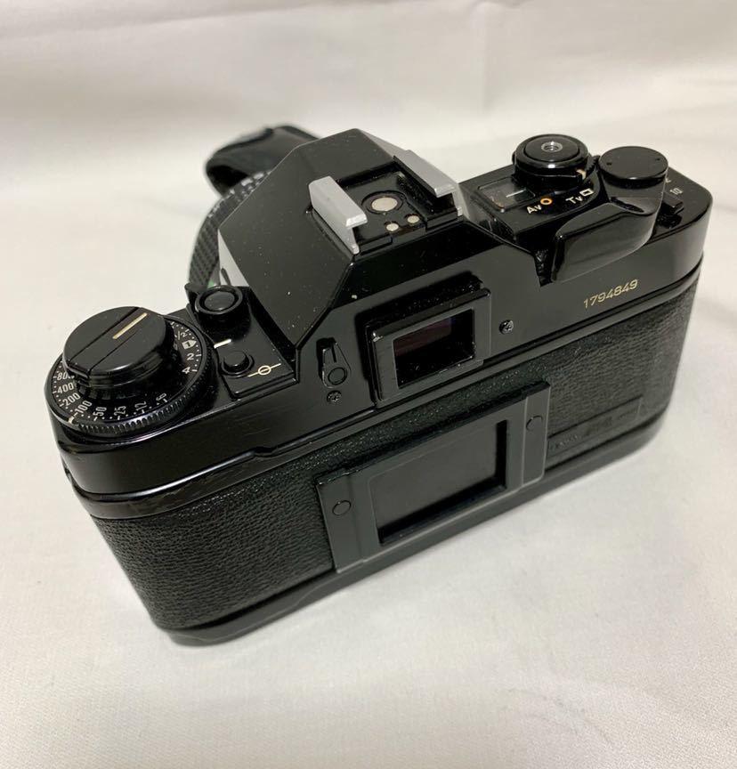 Canon A-1 1眼レフカメラ ブラック ボディ FD 50㎜ 1:1.4 レンズ キャノン セット_画像5