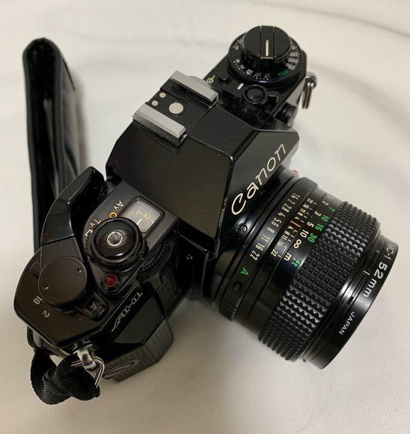 Canon A-1 1眼レフカメラ ブラック ボディ FD 50㎜ 1:1.4 レンズ キャノン セット_画像3