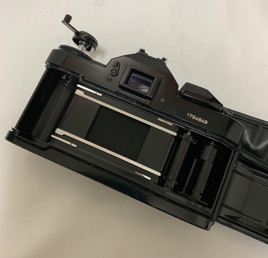 Canon A-1 1眼レフカメラ ブラック ボディ FD 50㎜ 1:1.4 レンズ キャノン セット_画像10