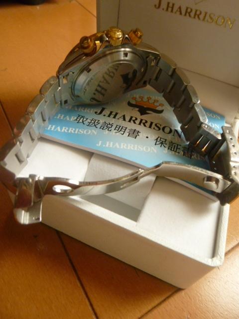 腕時計 J・HARRISON  ジョン・ハリソン 自動巻き& 手巻き多機能付き 取説付き 側金色 オリジナルベルト付き  稼動品 _画像10